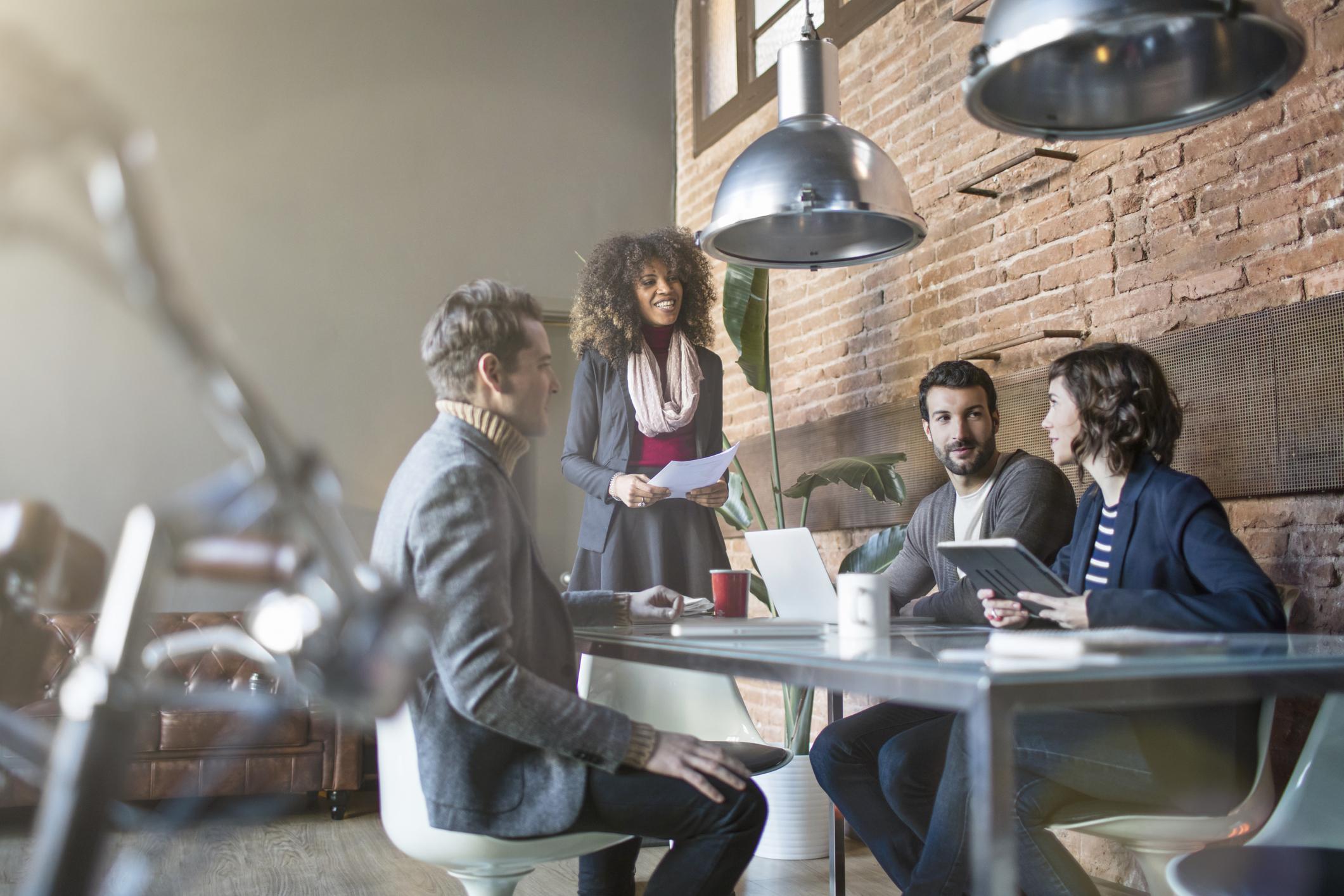 Vergadering over werken-bij website
